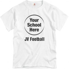 Custom Budget School Logo Upload Football Tee