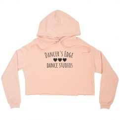 Hearts cropped hoodie