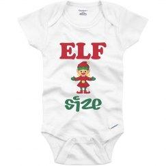Elf Size Infant Onesie