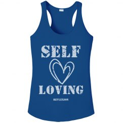 Ladies Performance SELF-LOVING Distressed Tank