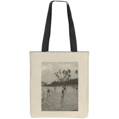Stilt fishermen (Sri Lanka) tote bag