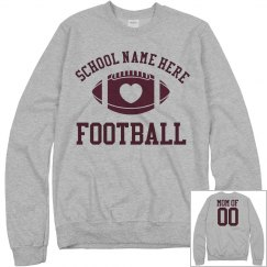 Inexpensive Budget Priced Football Mom Sweats Shirt