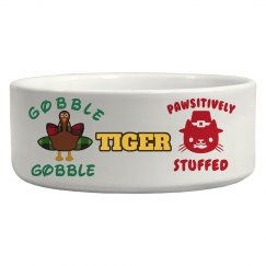 Pet bowl Thanksgiving