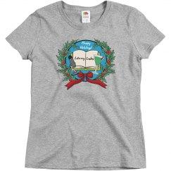 Literary Lushes Happy Holidays Edition Basic Tshirt
