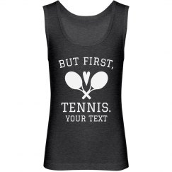 But First Tennis Youth Tank