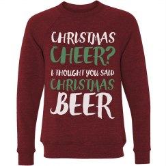 Thought You Said Christmas Beer