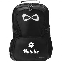Black Nfinity Backpack Mascot Paw Cheer Bag Gift