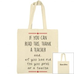 Thank A Teacher Custom Gift