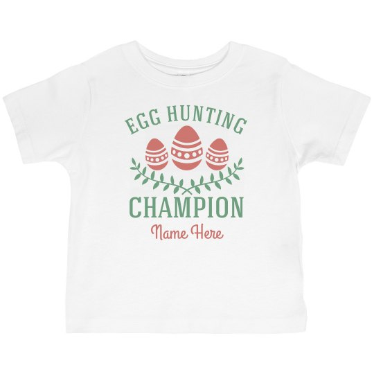 Egg Hunting Champion Custom Name Tee