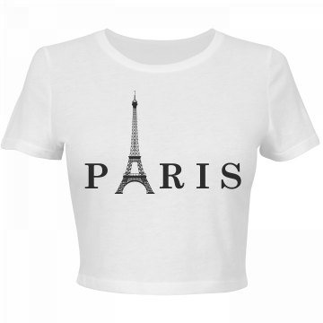 Eiffel Tower Crop Top