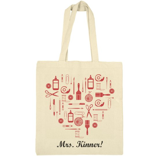 Elementary Teacher Bag With Custom Name
