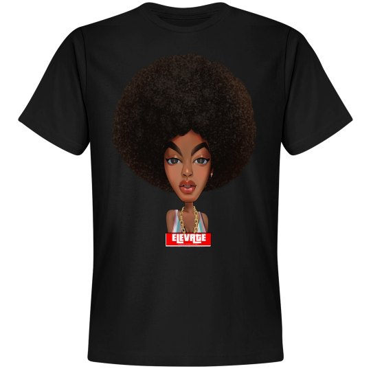 Elevate Tee- Afro Puff