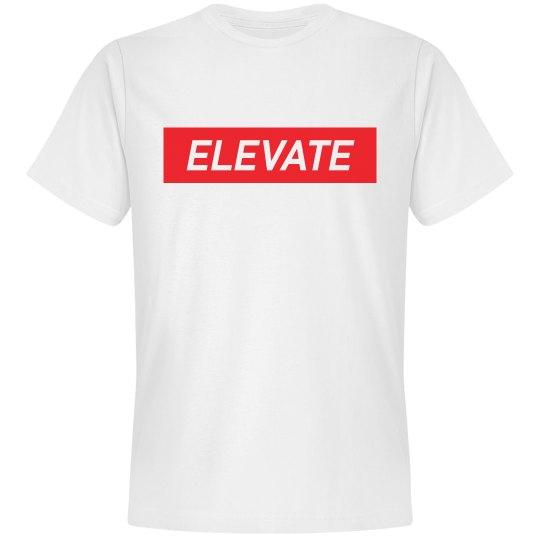 ELEVATE TEE-WHITE