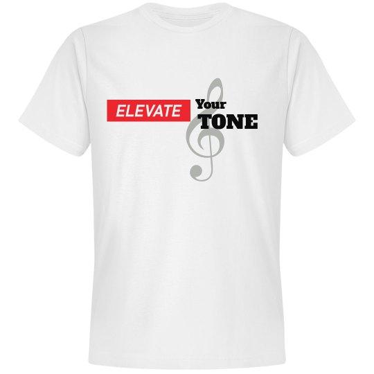 ELEVATE YOUR TONE-WHITE TEE