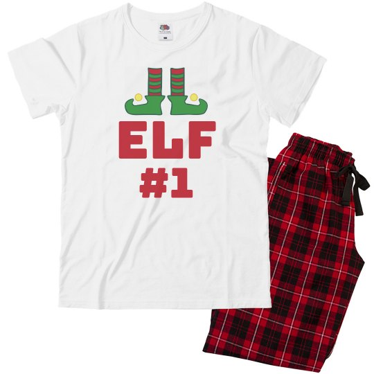 Elf #1 Cute Kids Christmas Pajamas