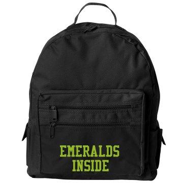 Emeralds inside