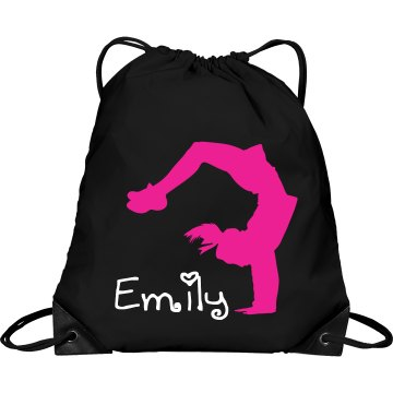 Emily cheerleading bag
