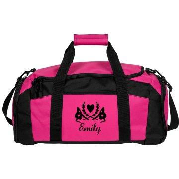 Emily. Gymnastics bag