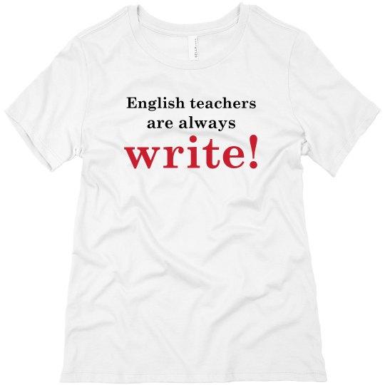 English Teachers Are Always Write