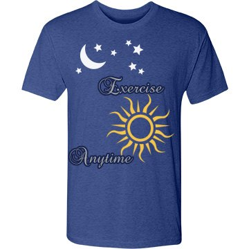 exercise anytime on blue