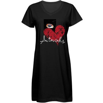 Eye heart Atnohs hat dress gown black