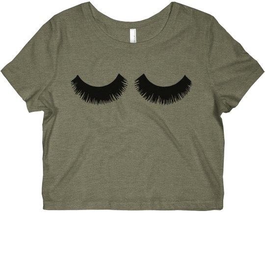 Eyelashes Diva Crop Tee