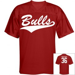 Bulls custom name and number sports jersey