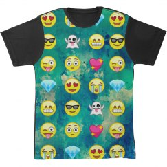 Emoji All Over Print Texture Shirt