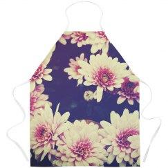 Vintage Floral Flower Apron