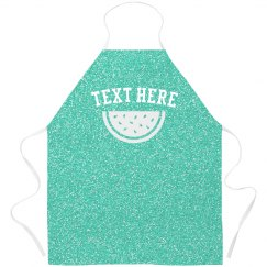 Custom All Over Print Turquoise Apron
