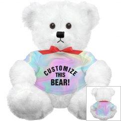 Custom Hologram All Over Print Bear