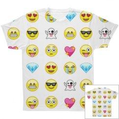 All Over Print Emoji T-Shirt
