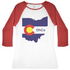OhCo Junior Raglan Red