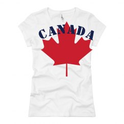 Canada Leaf Distressed