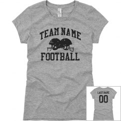 Custom Vintage Football Girlfriend