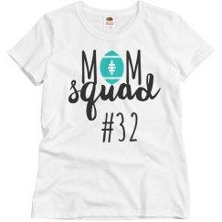 Football Mom Squad Custom Number