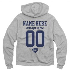 Custom Football Girlfriend Hoodie
