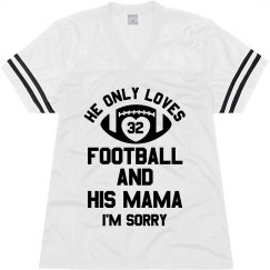 Custom Football Mama Text