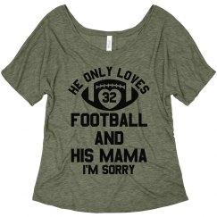 Custom Trendy Football Mom Text