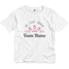 Eat Sleep Breath Dance Team Custom Tee