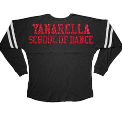 Yanarella Long Sleeve Varsity Tee Red