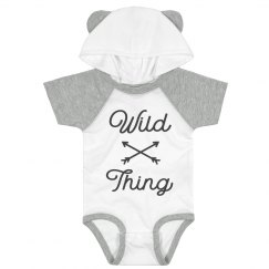 Wild Thing Cutest Hood & Ears Bodysuit
