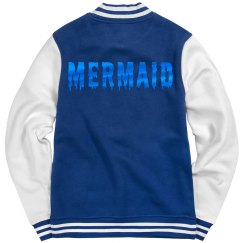 Blue Metallic Drip Mermaid Jacket
