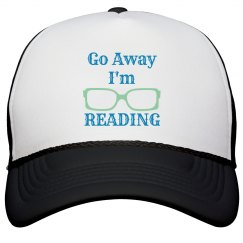 Go Away I'm Reading Hat