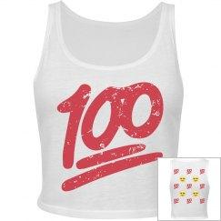 Emoji 100 Crop Tank Top