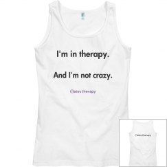 """women's """"not crazy"""" tank front/back"""