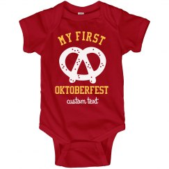 My First Oktoberfest Custom Infant Bodysuit