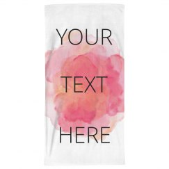 Custom Watercolor Beach Towel