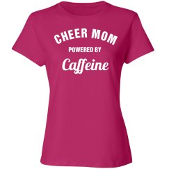 Cheer mom powered by caffeine