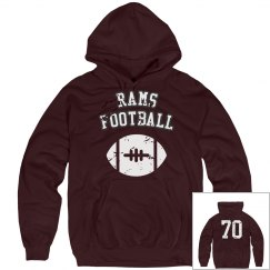 Number back sweatshirt